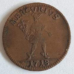 Karl XII 1 Daler Mercurius