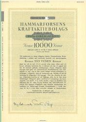 Hammarforsens Kraft AB, 3 1/2%, 10.000 kr