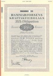 Hammarforsens Kraft AB, 3 1/4%, 5000 kr