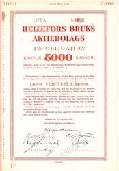 Hellefors Bruks AB, 4 %, 5000 kr