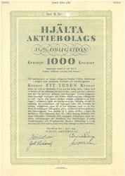 Hjälta AB, 3 1/4%, 1000 kr