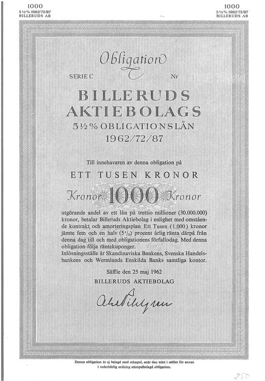 Billeruds AB, 5 1/2 %