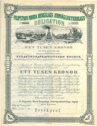 Filipstads Norra Bergslags Jernvägs AB Obl.