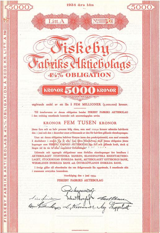 Fiskeby Fabriks AB 4 1/2 %