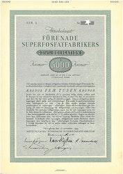 Förenade Superfosfatfabrikers, AB, 3 1/2% 5000 kr