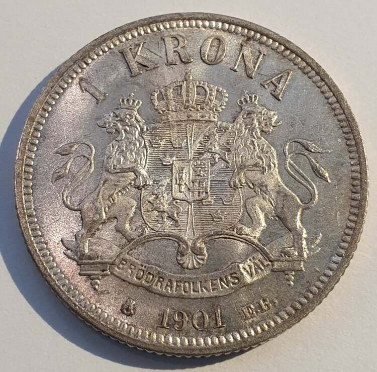 Oskar II 1 krona 1901