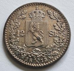 1873, Oskar II, 12 Skilling