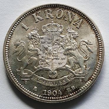 Oskar II 1 krona 1904