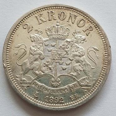 Oskar II 2 krona 1892