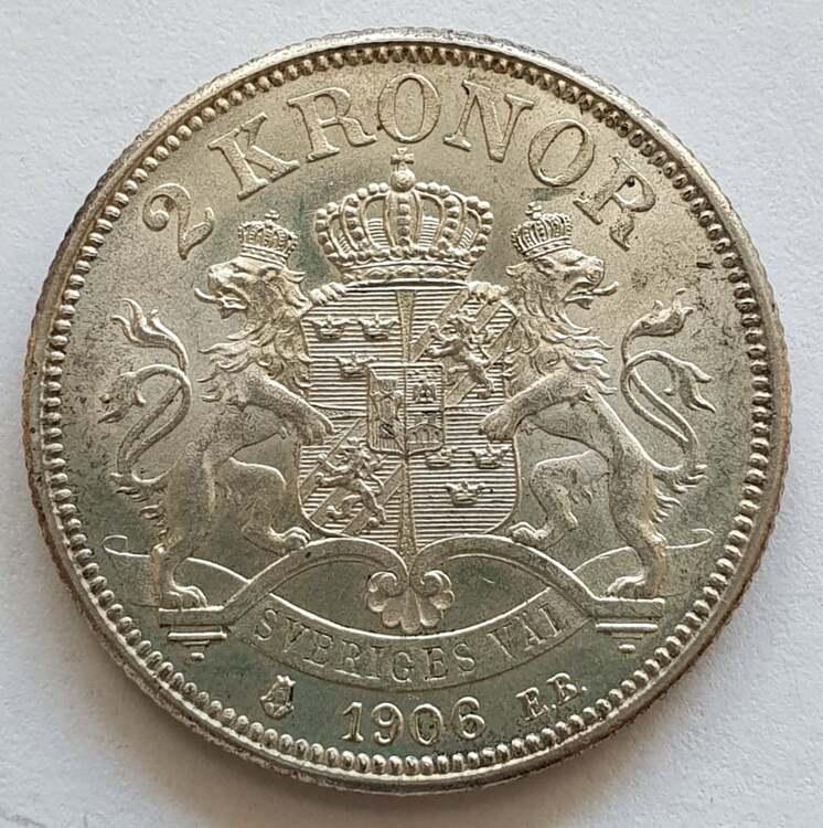 Oskar II 2 krona 1906