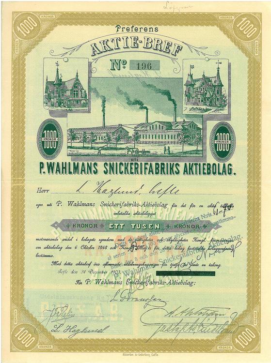 P. Wahlmans Snickerifabriks AB