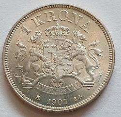 Oskar II 1 krona 1907