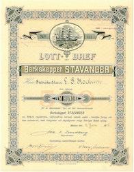 Barkskeppet Stavanger, 500 kr, 1898, Malmö