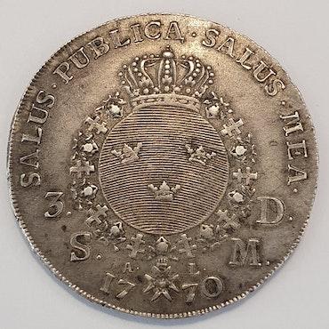 Adolf Fredrik 3 Daler 1770