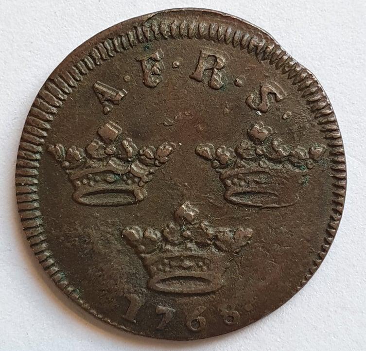 Adolf Fredrik 1 Öre KM, 1768