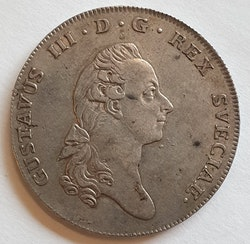 Gustav III 1 Riksdaler 1776