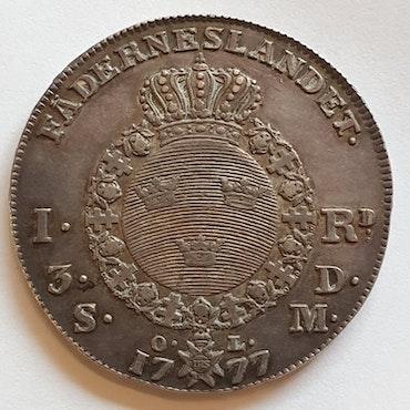 Gustav III 1 Riksdaler 1777