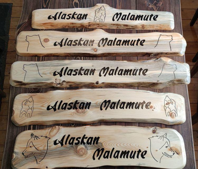 Träskyltar - Alaskan Malamute
