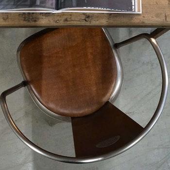Brun sittdyna i läder  390kr/st