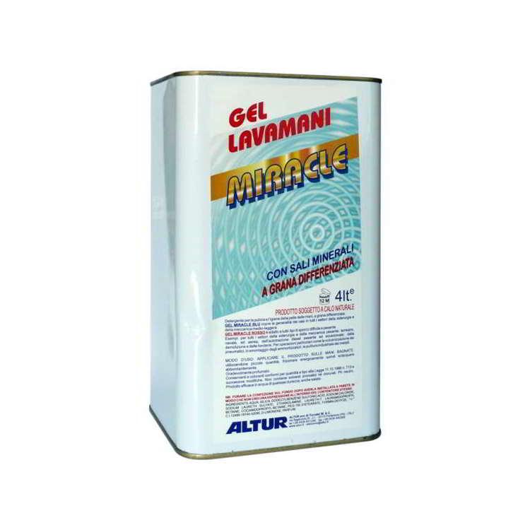 GEL MIRACLE BLU hd hand gel, thin grains 4kg