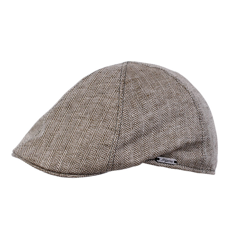 Wigens Pub Cap Herringbone Brown