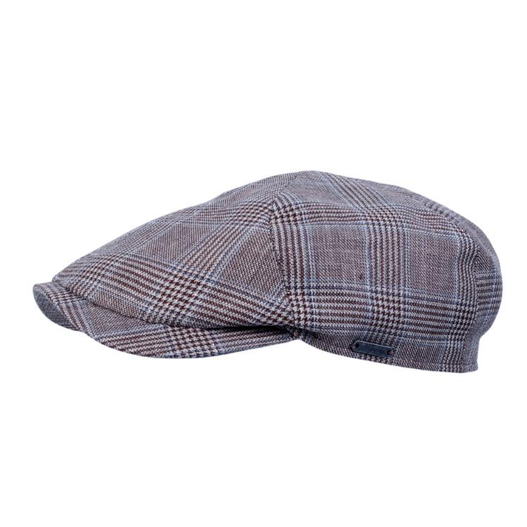 Wigens REA Newsboy Slim Cap Glencheck Blue 62