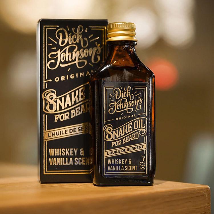 Dick Johnson Excuse My French Beard Oil Snake Oil Oak & Gin