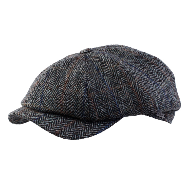 Wigens Newsboy Classic Cap 14 Dark Grey Melange
