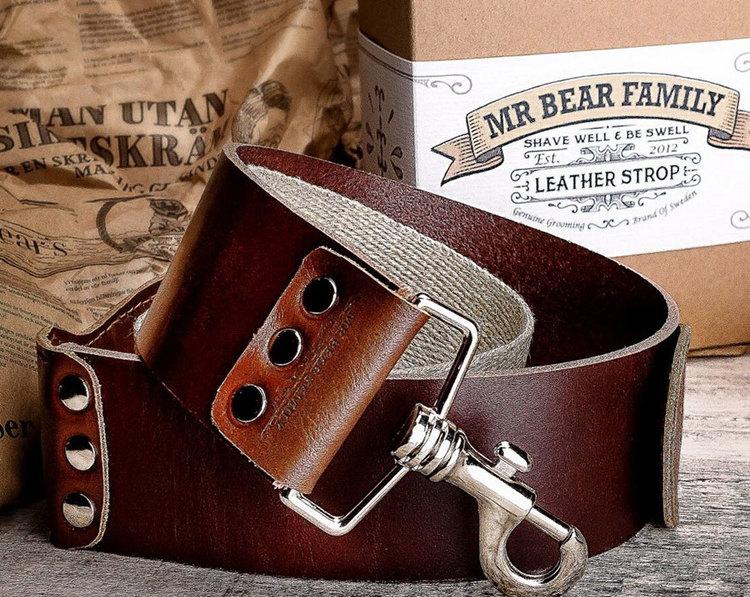 Mr Bear Family Strigel av koskinn handtillverkad i Sverige. Ett självklart val för entusiasten!
