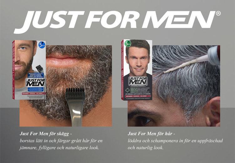 Så färgar du skägg och mustasch själv i hemmet. Just For men, enkla skäggfärger som täcker grått hår.