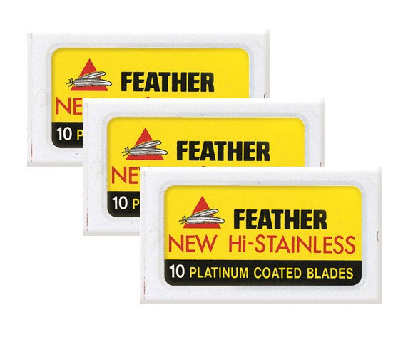Feather Dubbelrakblad 30-pack