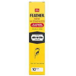 Feather Dubbelrakblad 200-pack