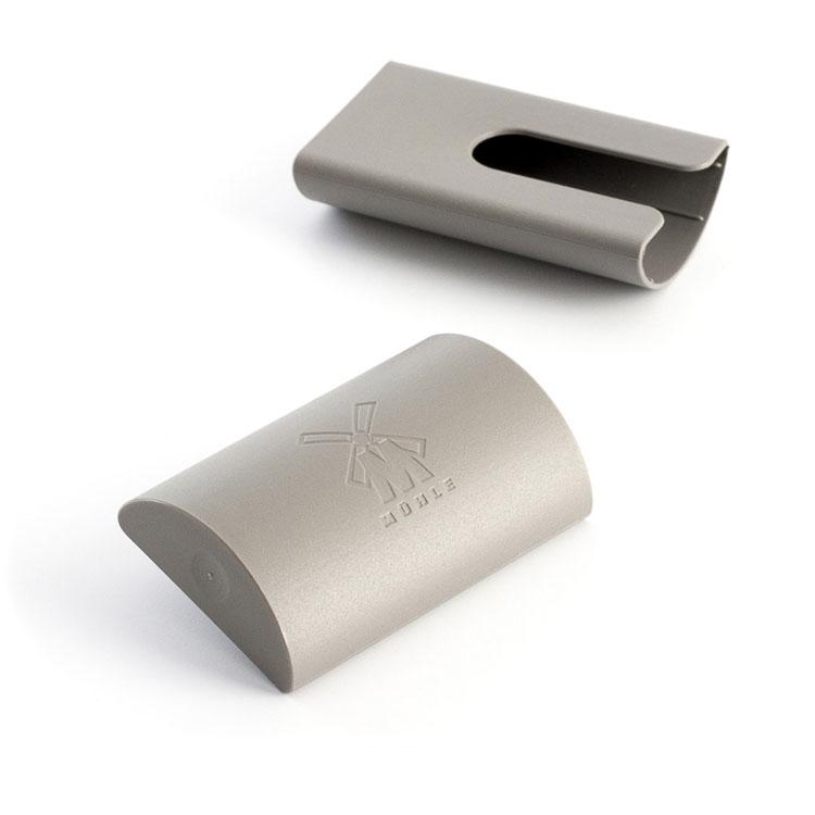 Mühle Blade Guard Rakhyvelskydd, ett smidigt plastskydd som skyddar ditt rakblad och hindrar det från att bli slött.