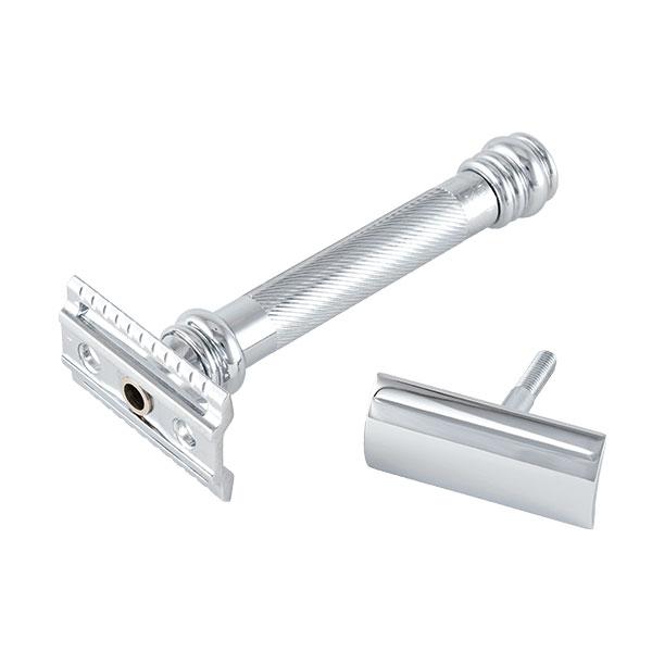 Merkur Säkerhetshyvel 38C Barber Pole, tyngre säkerhetshyvel med handtag designat likt en barberarstång.