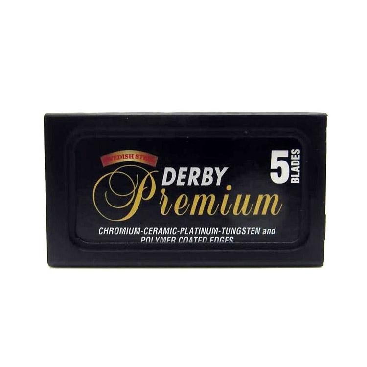 Derby Premium Dubbelrakblad 5-pack