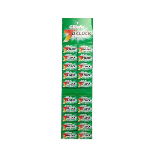 Gillette 7 O'Clock Super Stainless Dubbelrakblad 100-pack