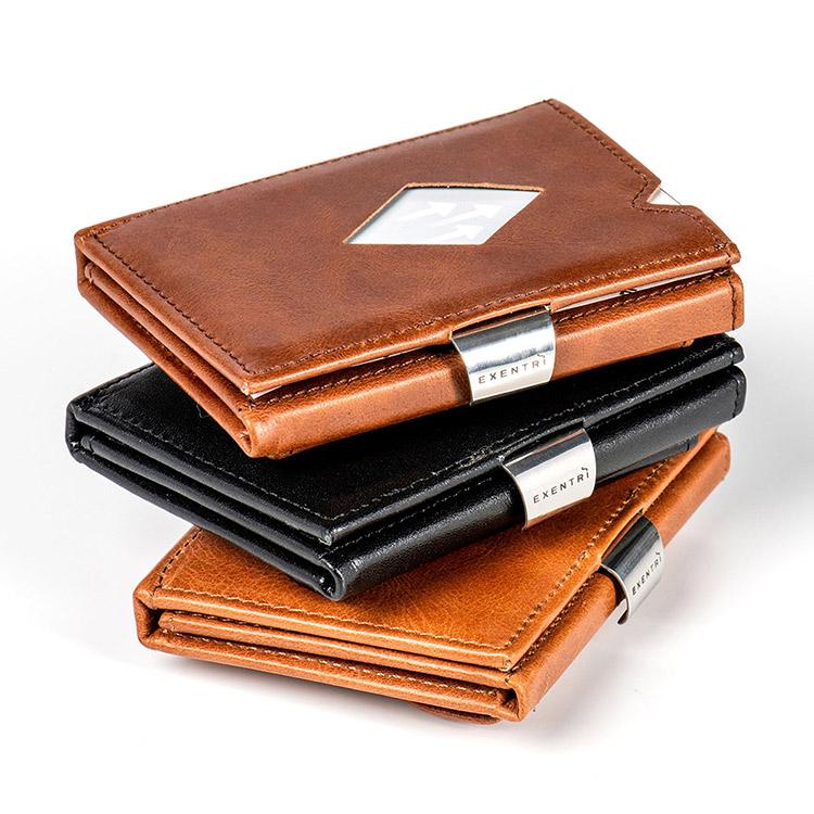 Exentri Wallet Black, Exklusiv och smart plånbok designad för kort, sedlar och kvitton.
