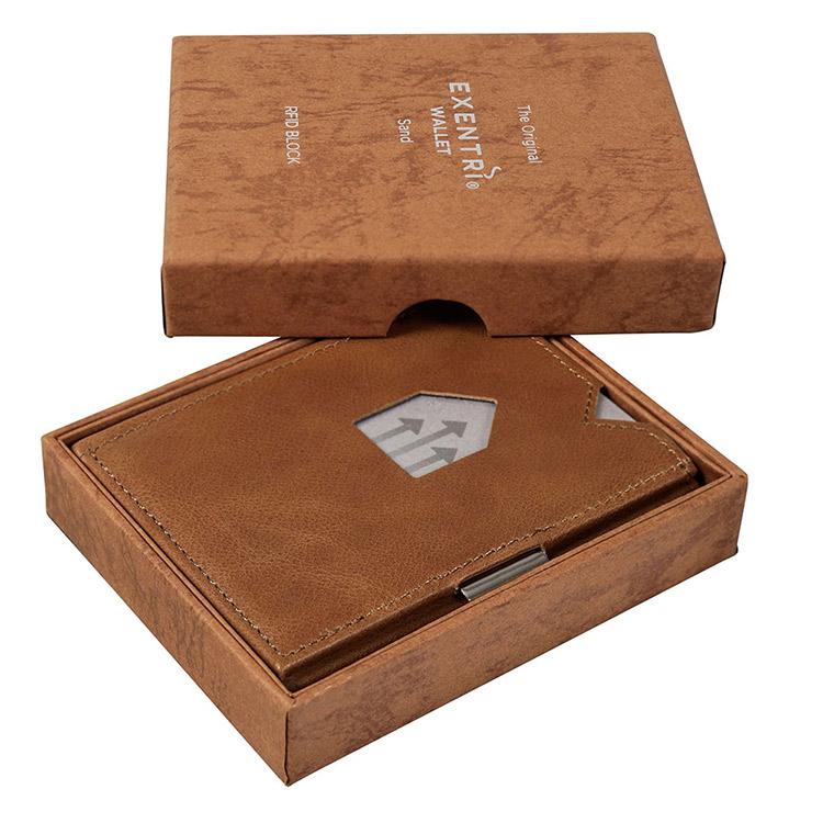 Exentri Wallet Sand, Exklusiv och smart plånbok designad för kort, sedlar och kvitton.