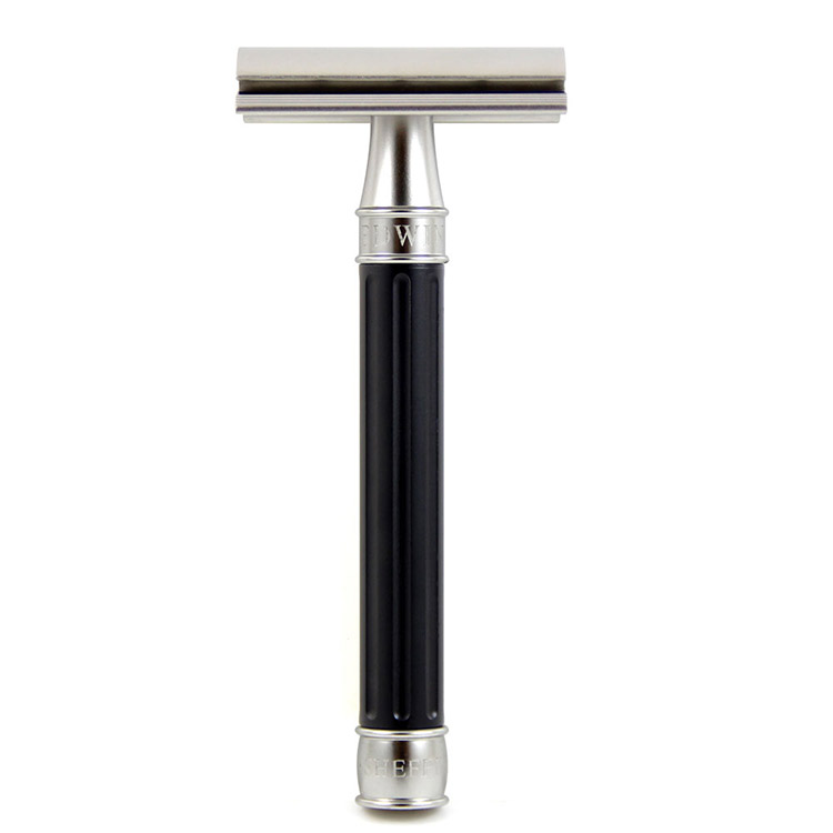 Edwin Jagger 3ONE6 Stainless Steel Black DE Razor