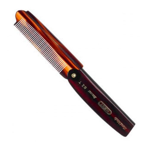 Kent Brushes Large Folding Pocket Comb Fine 82T, En vikbar och fintandad kam som lätt ryms i fickan.