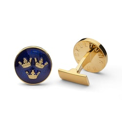 Skultuna Manschettknappar Tre Kronor Royal Blue Gold