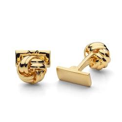 Skultuna Manschettknappar Black Tie Gold Knot