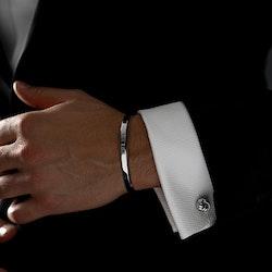 Skultuna Manschettknappar Black Tie Silver Knot