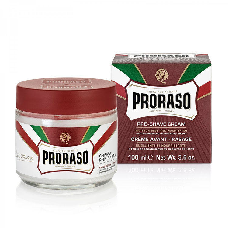 Proraso Pre-Shave Cream Nourishing Sandalwood and Shea Butter