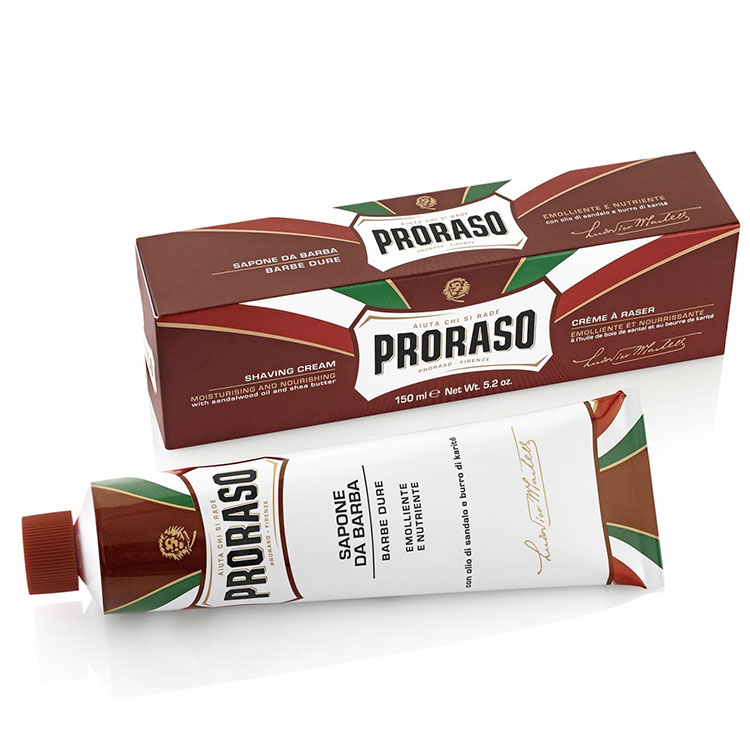 Proraso Shaving Cream Tube Nourishing Sandalwood and Shea Butter