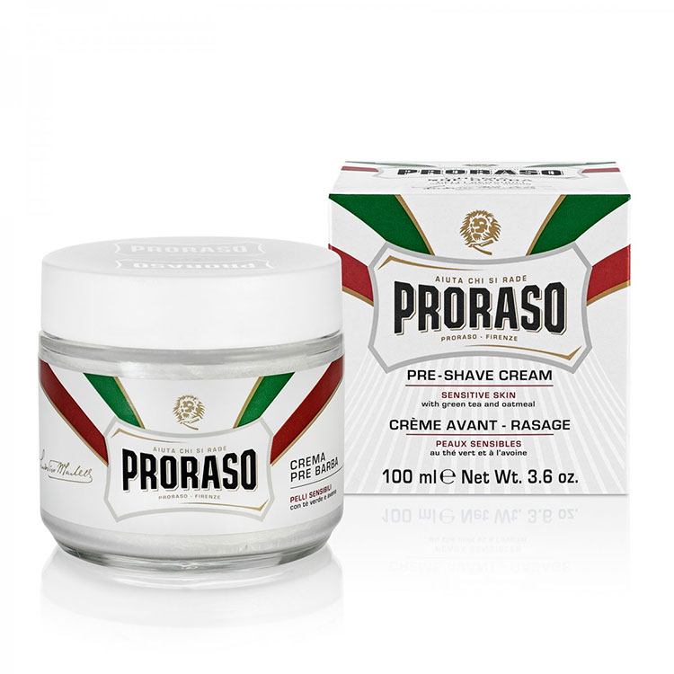 Proraso Pre-Shave Cream Sensitive Green Tea