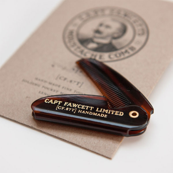 Captain Fawcett Folding Pocket Moustache Comb