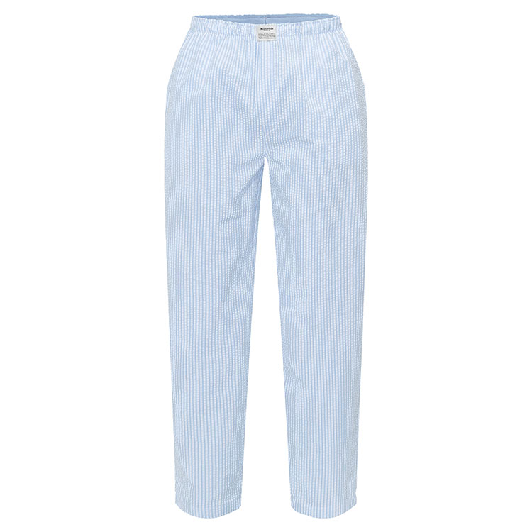 Resteröds Pyjamas Pants Seersucker Blue