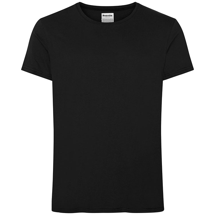 Resteröds R-Neck Tee Cotton Black