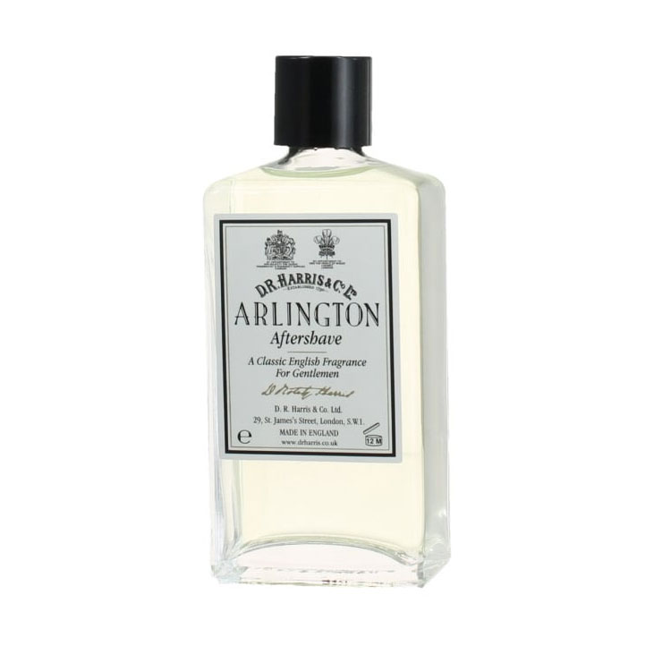 D.R. Harris Arlington Aftershave, Klassiskt rakvatten med alkohol som klappas in på huden efter rakning.